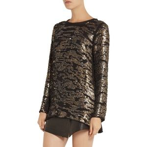 Isabel Marant Fedilon Sequin Silk Georgette Top